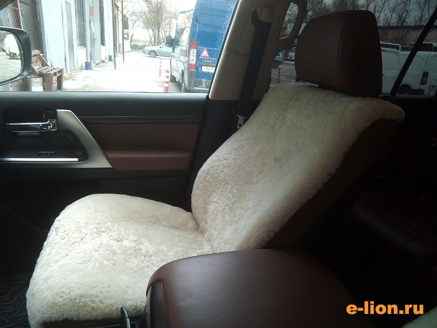 Toyota Land Cruiser-200, меховые чехлы на заказ, пассажирское сидение