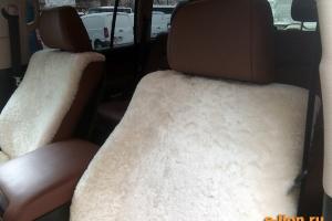 Toyota Land Cruiser-200, меховые чехлы, идеальное облегание